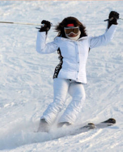 Renata Skiing